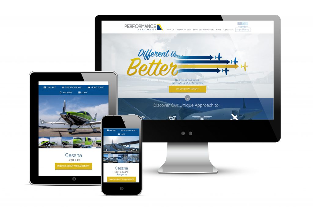 Performance Aircraft Sales Lauches New Website